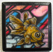 "Goldfish Graffiti - 3""x3"" Copic Marker & Ink on plaque (Available)"