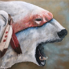 "Nanuq Warrior - 10"" x 10"" Acrylic on panel (SOLD)"